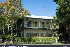 Usa, Florida, Key West, Hemingway House From Garden Stock Photo with regard to House And Garden Tour Key West