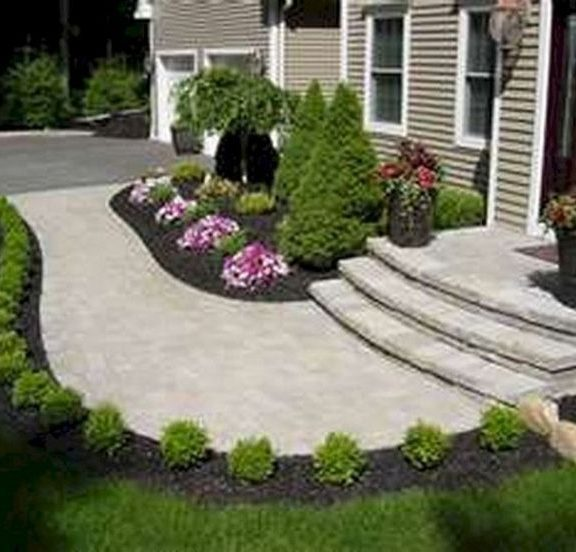 20 Gorgeous Front Sidewalk Landscaping Ideas for Your House