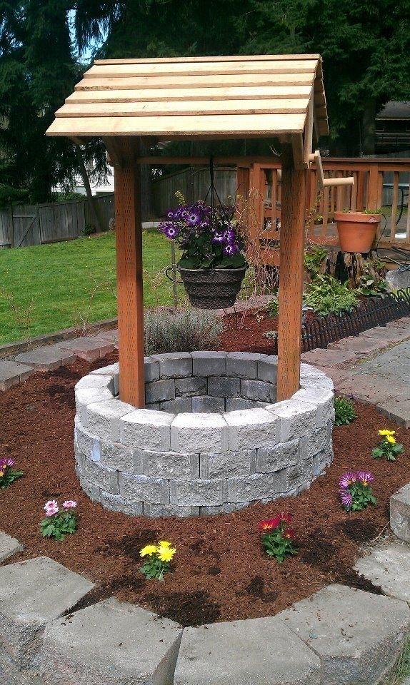 Amazing Wishing Well Garden Decor 1000 Ideas About Wishing with regard to Landscape Yard Jacobs Well